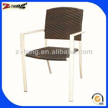 ZT-1031C Aluminum wicker armrest coffee chair