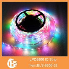 1meter white pcb 8806 ws2801 led digital strip,30pcs IC and 30pcs 5050 SMD RGB IP67