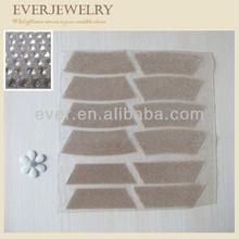 New fashion fan shaped hot fix rhinestone sheet