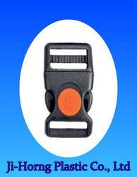 Colored plastic Curved adjustable lock belt buckle