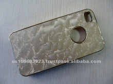 High quality cloth back sticker mobile phone cover for iphone4/4s