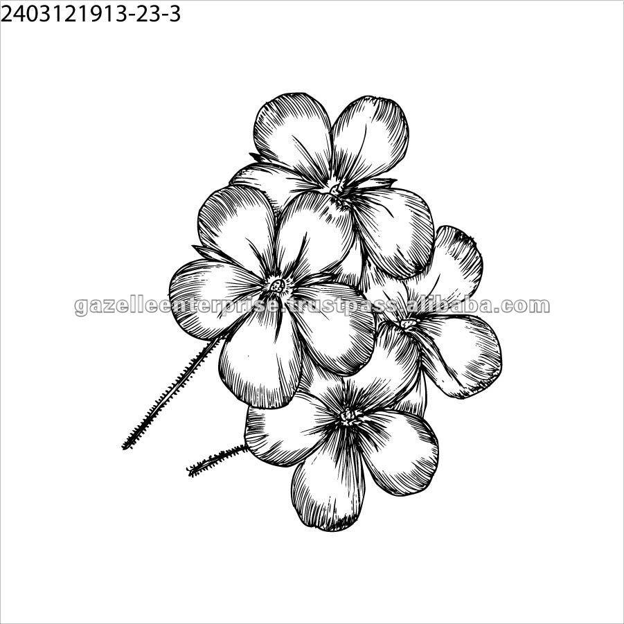 Tatuaje corporal - flores - 1007120124