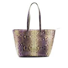 Luxury Snake Skin Shoulder Bag Genuine Python Bag for Women 100% Real Leather