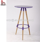 2014new style colored beautiful plastic bar style snack starbucks table and chairs