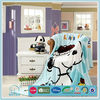 Printed animal super soft and thick warm coral fleece fabric for blanket with in winter