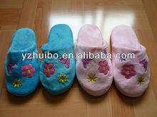 woman plush indoor slipper
