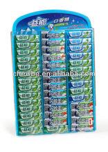 display shelf chewing gum