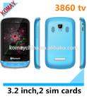 KOMAY Dual sim 3860 cellphone , GSM,quad band ,alibaba express mobile phone