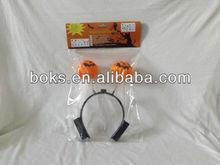 plastic Halloween Pumpkin shaped LED light hair band