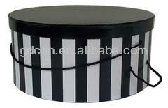 christmas wholesale decorative hat paper boxes with handle wholesale