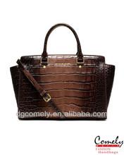 2015 purses Comely woman hand bag crocodile pattern pu trendy satchel bag fashion handbag fake designer handbags womens bags
