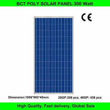 Price per watt CE standard 300W Poly solar module