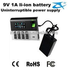 Black Mini UPS with Battery Backup Li-ion Battery,for fingerprint system