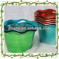 popular decoração colorida vaso de plástico