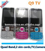 KOMAY cheap Q9 cellphone 2.4 inch screen TV big speaker mobile