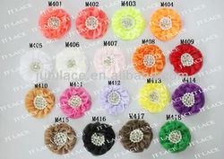 """Wonderful 3.5"""" chiffon flower with rhinestone for pretty girl"""