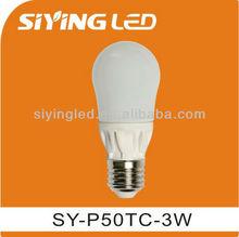 p50e27 3w led light bulb ra 80,led bulb ningbo