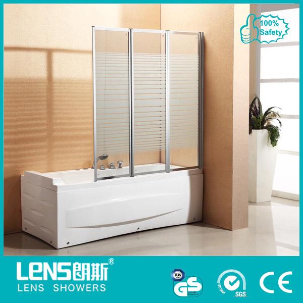 Folding Glass Bath Shower Screen with CE