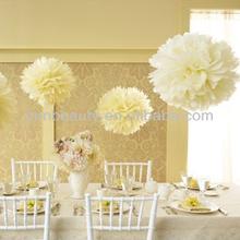 Hanging Tissue Paper Poms, Birthday Party Decor Ideas