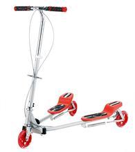 hot selling 3 wheels folding trikke scooter/big wheel kick scooter/adult kick scooter (DB8039M-RED)