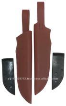 Sh-1 couro genuíno da vaca faca da bainha de faca de caça