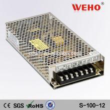 High efficiency IP20 ac dc power supply 8.5a 12v 100w power supply