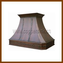 cobre martillado campana de la cocina para el mercado europeo