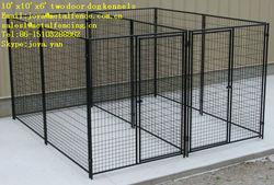 Wholesale galvanized metal folding playground double dog house