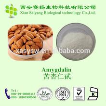 Herbal extract 100% natural Amygdalin vitamin b17 98% and 99% purity HPLC
