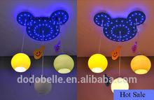 Shining mickey contemporary led children pendant light for kids