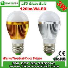 5X1W 5W E27 LED bulb 120lm/w/led