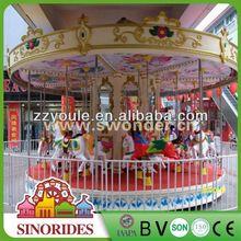 Popular amusement rides deluxe 16 seats backyard merry go rounds,backyard merry go rounds