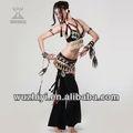 Новый, качественный, сексуальный костют для танцеров танцев живота, сшит из бархата, хлопка и синтетической ткани (QC2035)