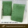 Green Croco leather, golf score card holder