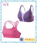Thick padded Gym sexy fashion young girl bra model