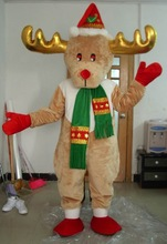 adult christmas red nose deer mascot costume