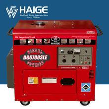 5kw Electricity Silent Diesel Generators (with 30L Big Fuel Tank) for Sale DG6700SLE
