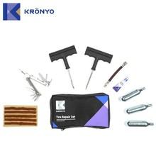 KRONYO screw driver liquid cylinder Co2 motorcycle tire repair kit