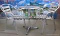 foshan fabbrica di alluminio imbottita sala da pranzo tavolo e sedie