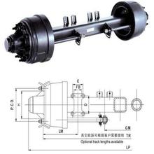 semi trailer axle/ heavy duty American semi trailer axle 16T PCD335 ISO9001
