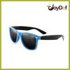 Fashion eyewear UV400 men's polarized two tone sunglasses dark lens