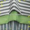 65% polyester 35% cotton hospital cloth blue white stripe fabric