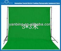 New design photography equipment 3x3m pure cotton green screen muslin digital photo studio background fabric backdrop