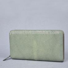 2015 Stingray zipper wallet_genuine stingray skin wallet_leather lady wallet