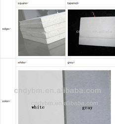 white,grey tapered edge mgo board internationl standard building wall proof material