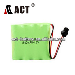 Hot sale Nimh 4.8V battery pack AA size 1800mAh 4.8V battery pack