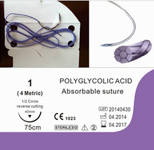 High quality synthetic Absorbable polyglycolic Acid( pga) surgical suture