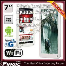 "7"" dual core rockchip rk3066 cortex-a9 1.6ghz tablet mid q88"