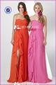 niña de vestido de fiesta vestido tradicional de gran tamaño las mujeres vestido de noche de color melocotón vestidos de dama de honor lx169