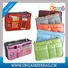 Encai Factory New Design Travel Bag In Bag Organiser / Cosmetic Organizer Bag Inserts / Double Zipper Makeup Bag